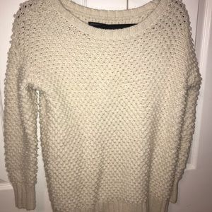 textured white american eagle sweater